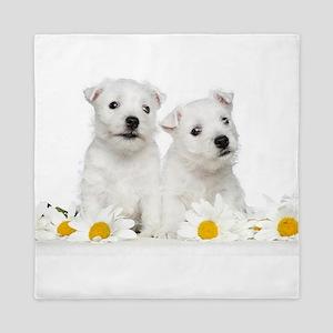 Westie Puppies Queen Duvet