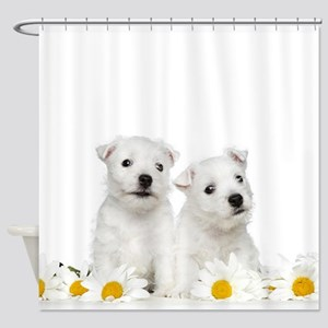 Westie Puppies Shower Curtain