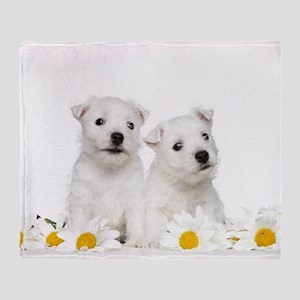 Westie Puppies Throw Blanket