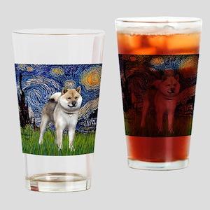 T-Starry-ShibaInu148 Drinking Glass