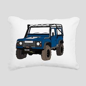 Off-road Defender 90 Col Rectangular Canvas Pillow