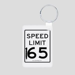 Speed Limit 165 Aluminum Photo Keychain