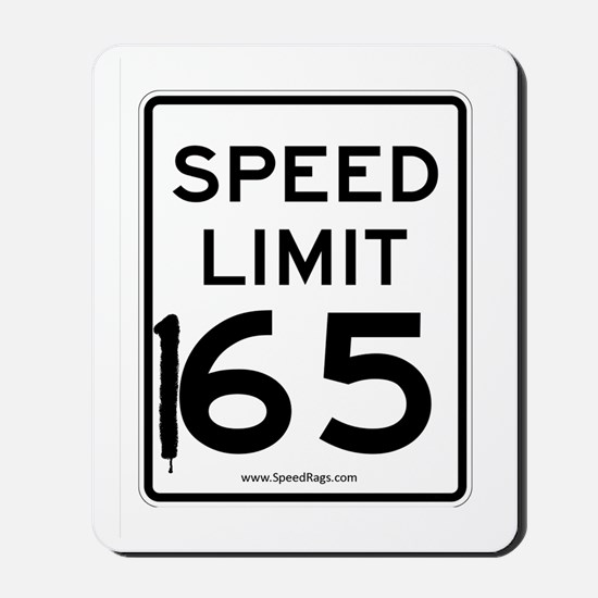Speed Limit 165 Mousepad