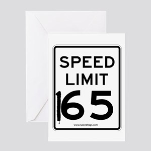 Speed Limit 165 Greeting Card