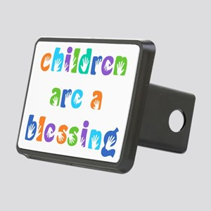 CHILDREN ARE A BLESSING Rectangular Hitch Cover