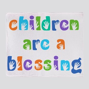 CHILDREN ARE A BLESSING Throw Blanket