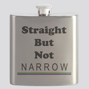 Straight But Not Narrow Flask