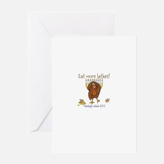 Eat more latkes Greeting Cards