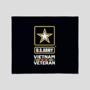 U.S. Army Vietnam Veteran Throw Blanket