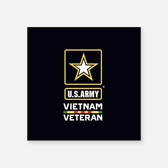 "U.S. Army Vietnam Veteran Square Sticker 3"" x 3"""