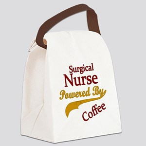 Surgical Nurse Powered By Coffee Canvas Lunch Bag