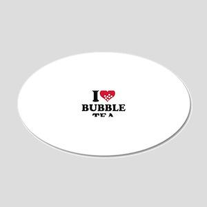i_love_bubbletea 20x12 Oval Wall Decal