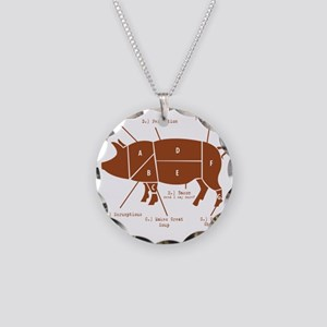 Delicious Pig Parts! Necklace Circle Charm