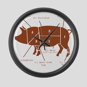 Delicious Pig Parts! Large Wall Clock