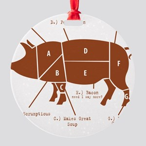 Delicious Pig Parts! Round Ornament