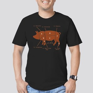 Delicious Pig Parts! Men's Fitted T-Shirt (dark)