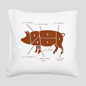 Delicious Pig Parts! Square Canvas Pillow
