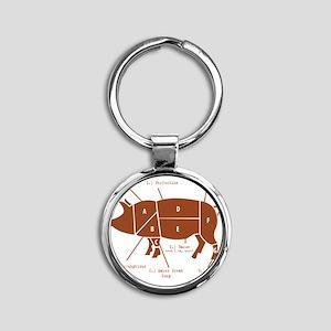 Delicious Pig Parts! Round Keychain