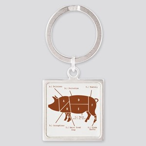 Delicious Pig Parts! Square Keychain