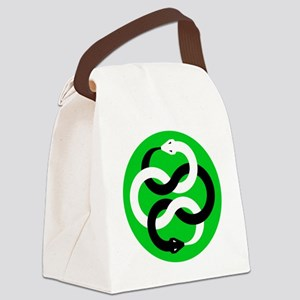 Double Oroborous (Green) Canvas Lunch Bag