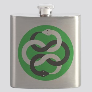 Double Oroborous (Green) Flask