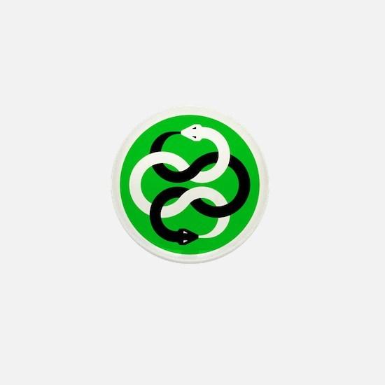 Double Oroborous (Green) Mini Button