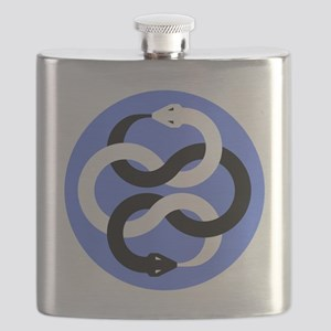 Double Oroborous (Blue) Flask