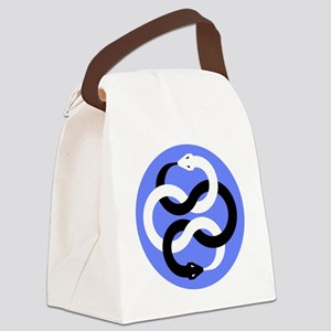 Double Oroborous (Blue) Canvas Lunch Bag