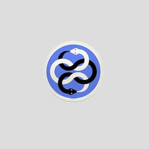 Double Oroborous (Blue) Mini Button