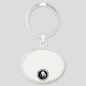 Security Gut Pile Style Oval Keychain