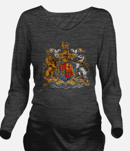 United Kingdom Coat  Long Sleeve Maternity T-Shirt