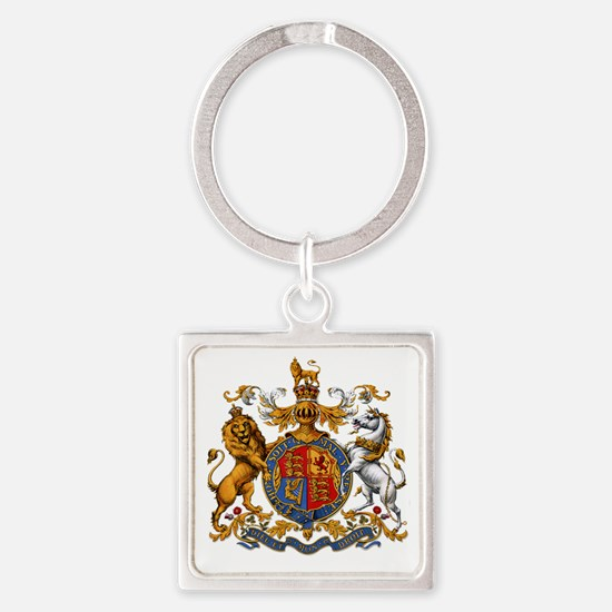 United Kingdom Coat of Arms Herald Square Keychain