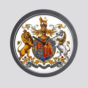 United Kingdom Coat of Arms Heraldry Wall Clock