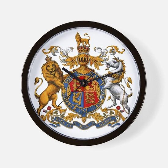 United Kingdom Coat of Arms Heraldry Wall Clock