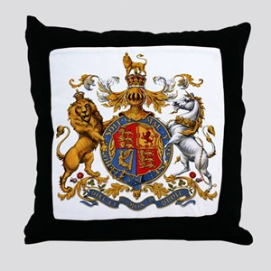 United Kingdom Coat of Arms Heraldry Throw Pillow