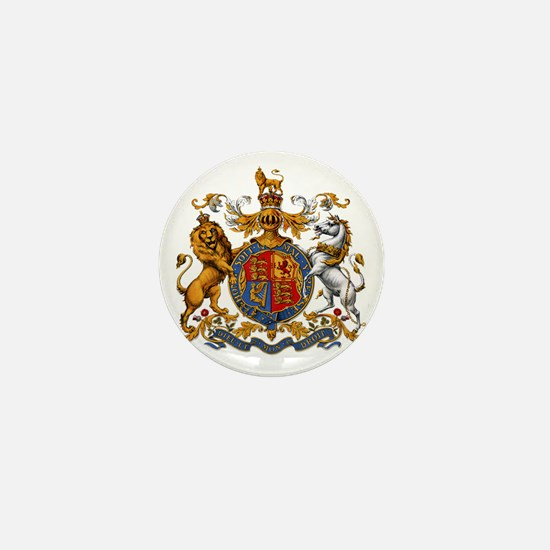 United Kingdom Coat of Arms Heraldry Mini Button