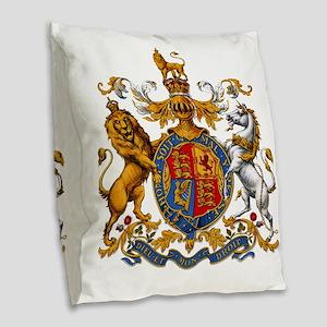 United Kingdom Coat of Arms He Burlap Throw Pillow