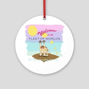 Fleet of Worlds Round Ornament