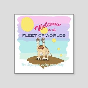"""Fleet of Worlds Square Sticker 3"""" x 3"""""""