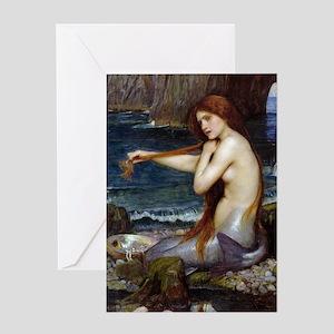 John William Waterhouse Mermaid Greeting Card