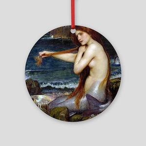John William Waterhouse Mermaid Round Ornament