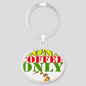 Kona Coffee Only Oval Keychain