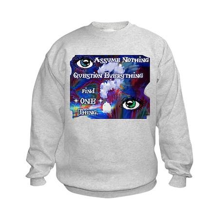 Question Assume Kids Sweatshirt