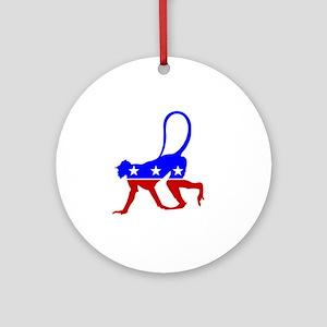 Politics Round Ornament