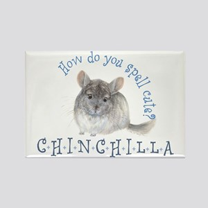 cute chinchilla Rectangle Magnet