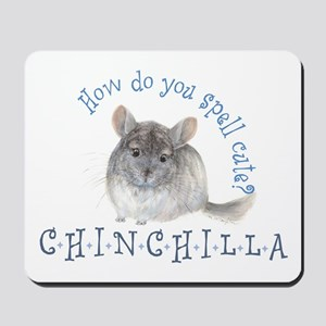 cute chinchilla Mousepad