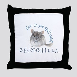 cute chinchilla Throw Pillow