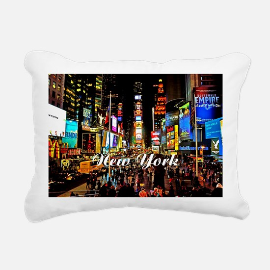 NY_5x3oval_sticker_Times Rectangular Canvas Pillow