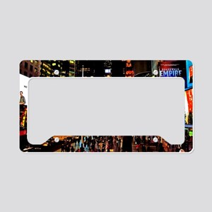NY_5x3oval_sticker_TimesSquar License Plate Holder