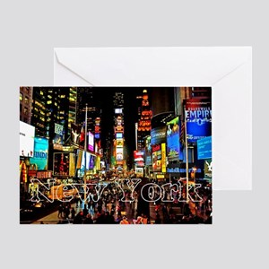 NY_5x3rect_sticker_TimesSquare Greeting Card